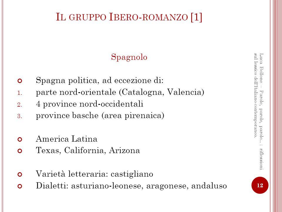 Il gruppo Ibero-romanzo [1]
